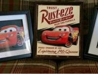 I have some Cars wall art for sale. All 3 for $20 -