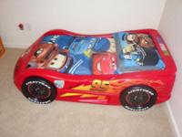 I have a Lightning McQueen toddler bed with a top of