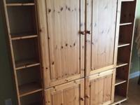 "used lightweight IKEA armoire 56"" W x62.5"" H x"