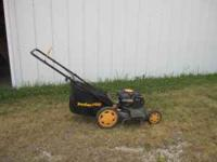 For sale: Poulan push mower with a bagger, 6.5 horse