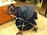 Like brand new stroller/car seat combo. Brand name