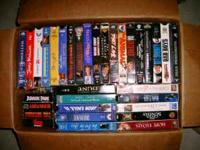 Like Movies? Here's over 85 VHS GREAT Top Notch Movies