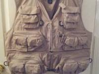 Master Sportsman Fishing Vest. Size 2X. Like New