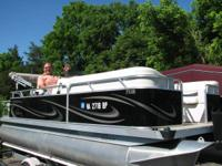 Fresh 2009 18ft Quest pontoon. Kept covered, no tears,