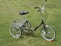 "HAVE A LIKE NEW 20"" ADULT 3 WHEEL BIKE BY WORKMAN VERY"