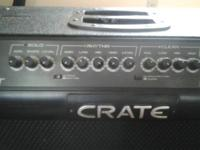 Like new crate amp with 3 Chanel 120 watt good amp