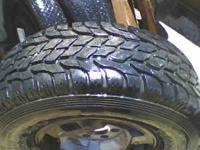 4 like new all-terrain tires on 6lug wheels.call
