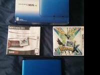 I am offering my gently utilized blue 3DS XL and video