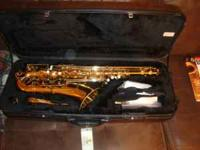 Like new Accent Tenor Saxophone with music. Great for a