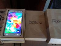 up for sale like new att Samsung galaxy s5 in box white