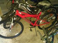 Mtn Bikes a few are like New work Good 2 of each=