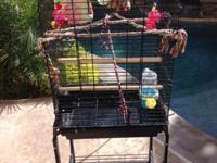 Like-New Bird Cage. Just used for 6 months. Features