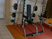Bodysolid like new, lifetime warranty, Smith Machine &