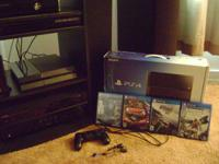 Up for sale is a fresh Sony PlayStation 4 total with