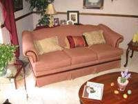 REDUCED! Like new cloth-covered couch. Formal living