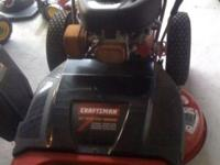 "For Sale: Like New Craftsman 33"" Wide Body Walk Behind"