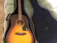 Like new Epiphone Guitar with soft case. $80.00 email