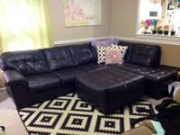 Fresh faux leather brown 2 piece sectional sofa and