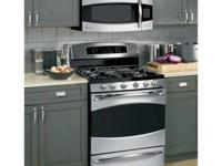 "LIKE NEW GE Profile 30"" Free-Standing Gas Range with"