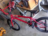 Haro 300.3 BMX bike, Red, Kenda Kontact tires (no wear)