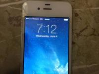 I have a white iPhone 4 (presently upgraded with iOS7)