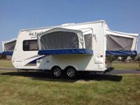 Jay Feather Sport Expandable Travel Trailer, Rear &