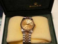 Rolex DateJust Watch with Box     BELOW Retail
