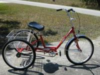 "Miami Sun Adult Tricycle, Traditional 24(""), Metallic"