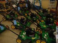 These are customer returned lawnmowers that have been