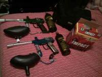 I'm selling both of my paint ball guns w/ 2tanks and a