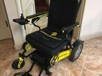 This wheelchair is practically new. My mom used it