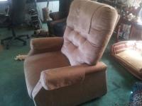 "This tan ""Power lift-Recliner"", is like new. Complete"