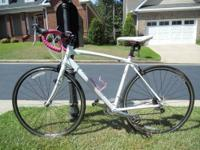 Raleigh Road Bike, Capri 2.0, pink and white, ridden