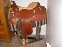 "Cascade Reining Saddle 16"" Seat Nearly New! Really"