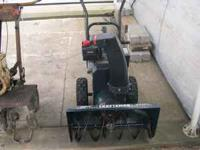 hi i have a new used 1 season craftsman 5 hp 24 in