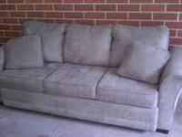 Like New Olive Green Microfiber sofa. Cleans well and