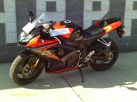 Like new 2008 Suzuki GSXR 750 motorcycle. Middle aged