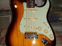 THIS IS A SVK STRAT COPY AND IS A GREAT GUITAR. MODEL