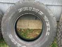 I'm selling 1 like new tire with 90% tread or more
