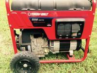 Like new Troy-Bilt 5550 Watt Generator. Run less than 3
