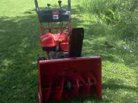 like new condition snowblower..Troy Bilt 8.5hp
