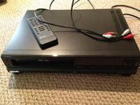 Up for sale is a terrific VHS player.  We no longer