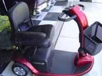 Like new Scooter Victory Pride red with baskets, new