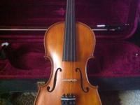 KCC 103 4/4 violin for sale. No scratches or marks on