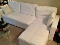 I am selling my like new white sectional couch that I