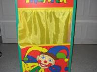 For sale is a WONDERFUL LIKE NEW PUPPET THEATRE FOR