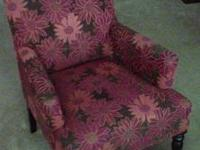 Liliana Armchair, Bold Floral Red in outstanding