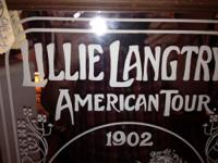 We have a Lillie Langtry's American Tour Mirror that