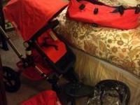 Awesome bugaboo frog stroller with complete set and