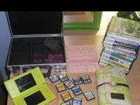 Green Limited Edition Nintendo DS with 12 games (all